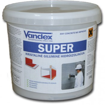 VANDEX SUPER kristalinė hidroizoliacija, 5kg